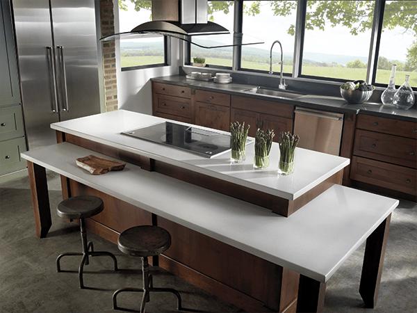 Una cocina con isla ugon vizcaya for Material cocina