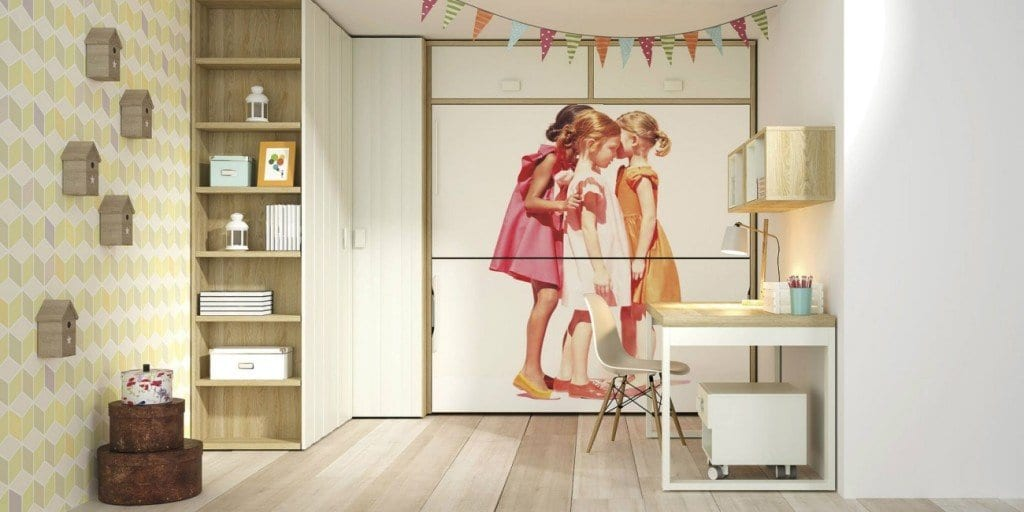 Camas abatibles para habitaciones juveniles for Habitaciones originales para adultos