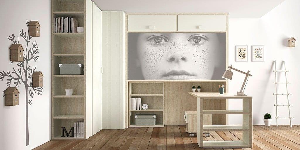 Camas abatibles para habitaciones juveniles - Habitaciones juveniles con cama abatible ...